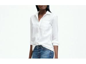 white womens button down blouse staple pieces for work