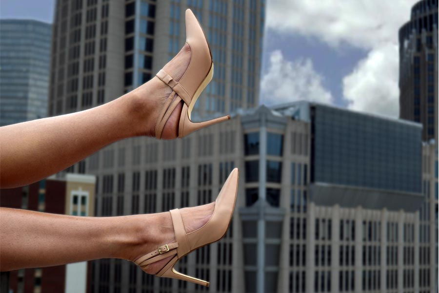 beige nude Slingbacks appropriate for work