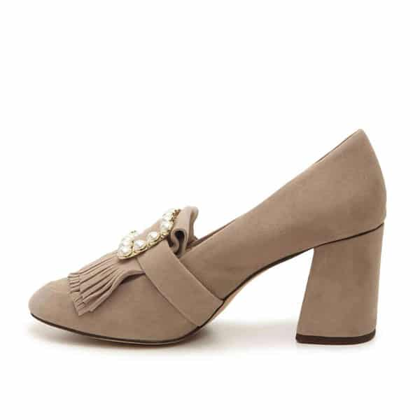 Louise et Cie Heeled Peal Loafers