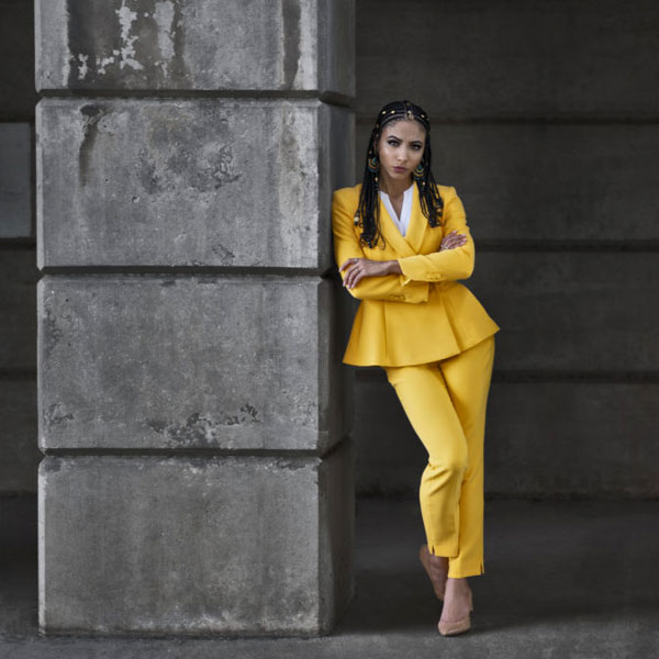 Is Natural Hair Unprofessional? Five Reasons to Wear Natural Hair to Work bright yellow suit