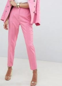 Tuck Slacks for pink suit for work