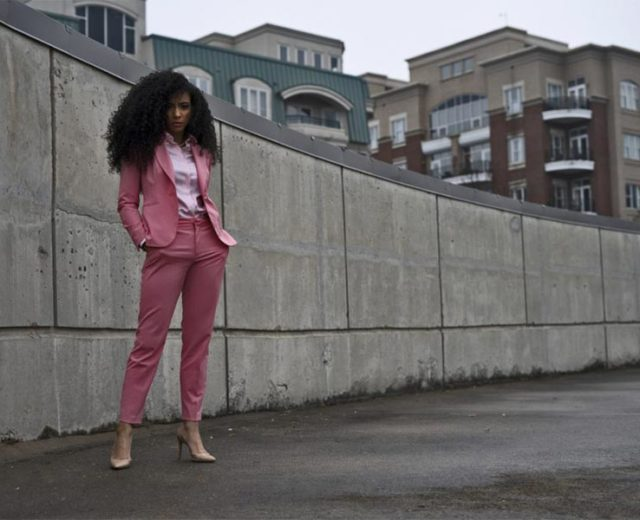 Look of the Week: Pink Suit