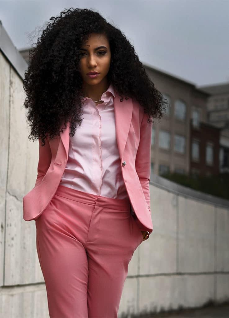Look of the Week: Pink Suit