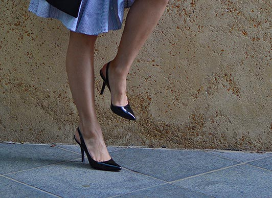 black Slingbacks for work