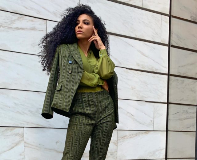 green suit ny&company natural hair office